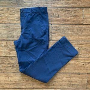 Blue Skinny Khaki Chino Pants